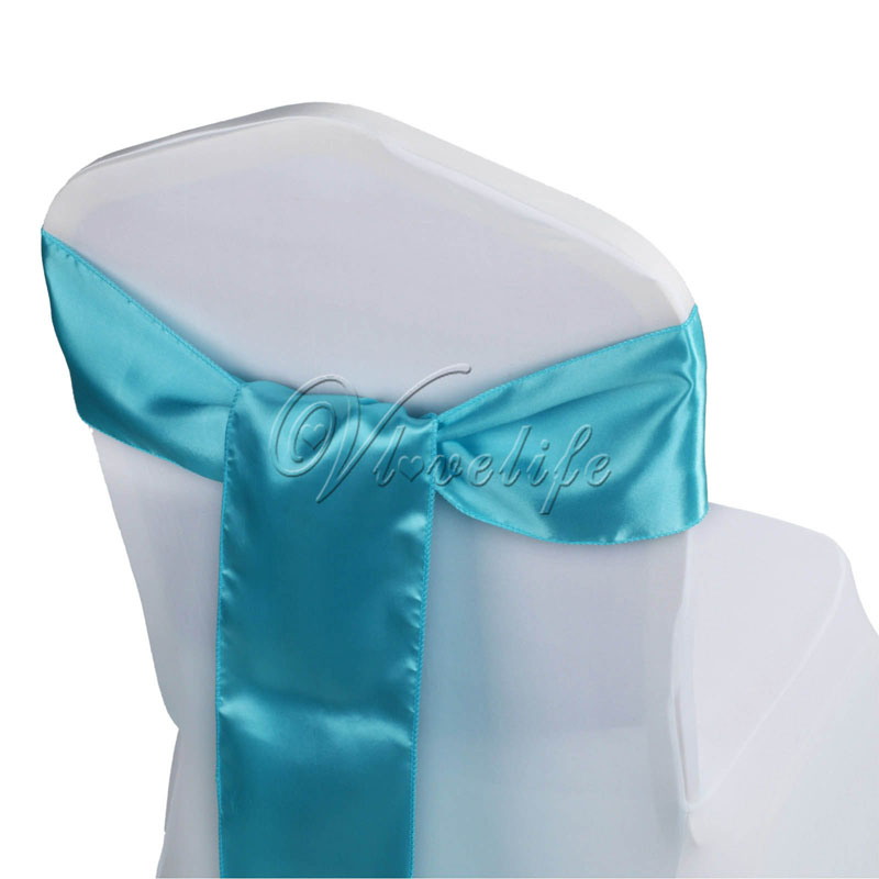 6 x 108 satin chair sash bow ties for banquet wedding party