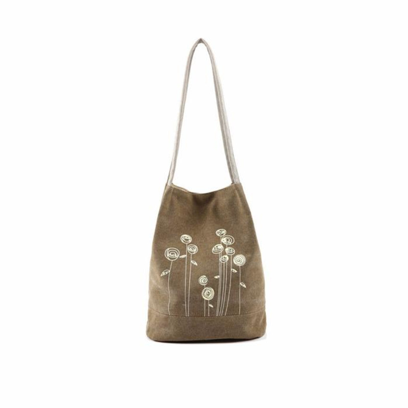 Woweino Dandelion Canvas Bag Flowers Handbags Bucket Ladies Handbags Big Floral Tote Ipad Bolsos