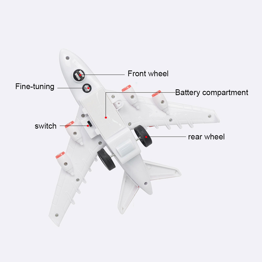 Image 5 - Kids Airplane Toys Airbus Electric Remote Control Model Plane with Lights Sounds  Model Kids for Children Gifts-in RC Airplanes from Toys & Hobbies