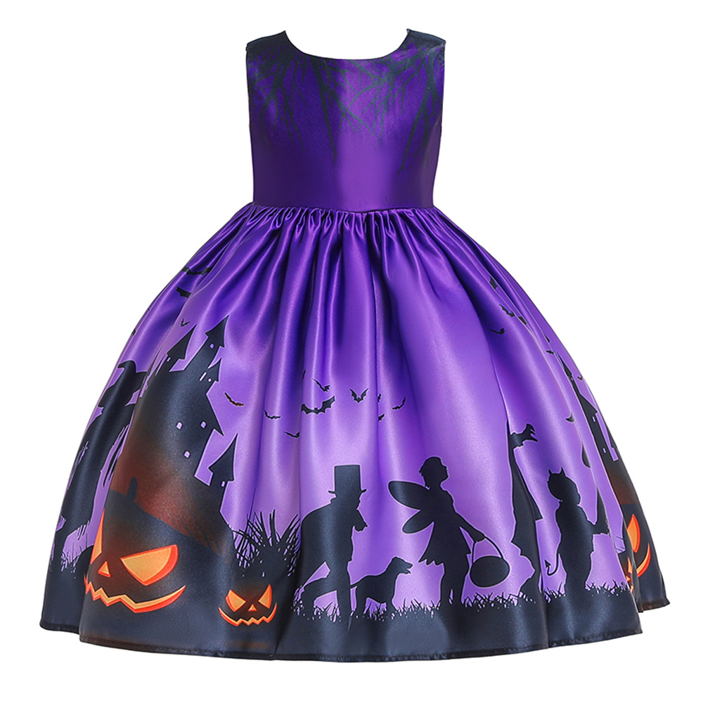 Girls Dresses For Kids 2019 Halloween Cosplay Party Dress Clothes Teens Princess Dress Hat Children Christmas Carnival Dresses (17)