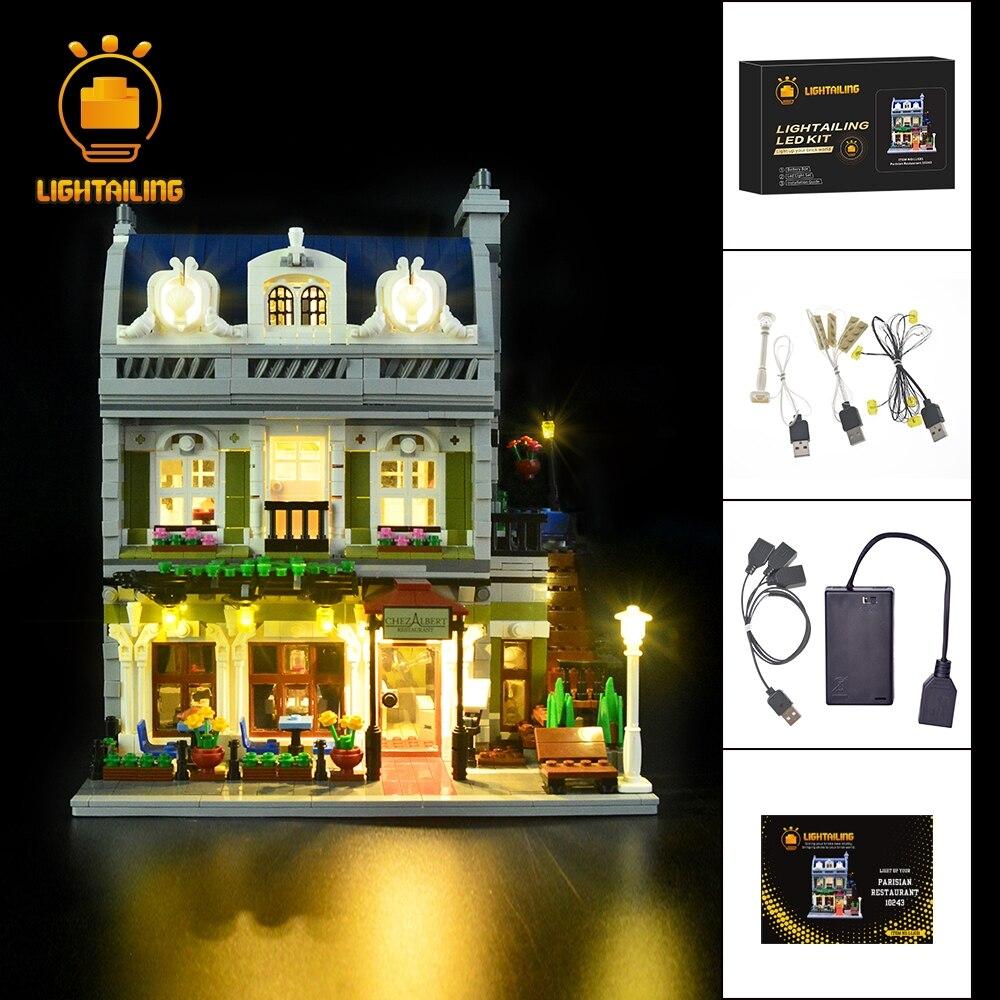 LIGHTAILING HA CONDOTTO LA Luce Up Kit Per Creatore di Esperti Parigini Ristorante Building Block Set Luce Compatibile Con 10243 E 15010