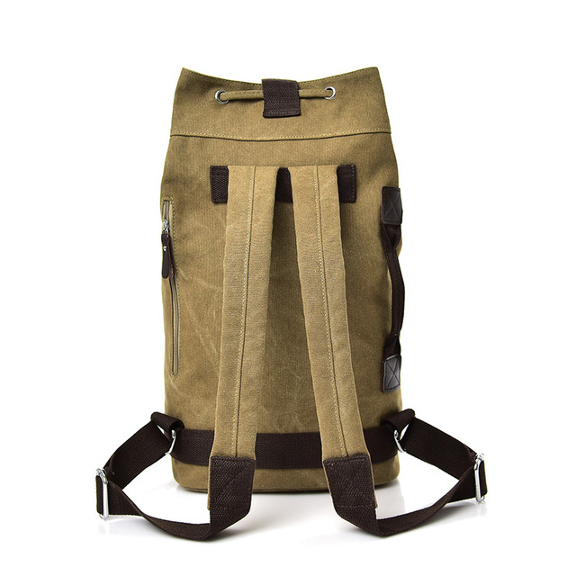 Large capacity Rucksack Man travel bag mountaineering backpack Men canvas bucket shoulder bags Male Canvas Backpacks Mochila 5