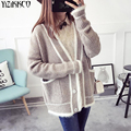 Women Cardigan Sweater 2017 Spring Autumn Fashion Knitted V-Neck Cardigans Solid High Quality Pull Femme Sweter Mujer SZQ156
