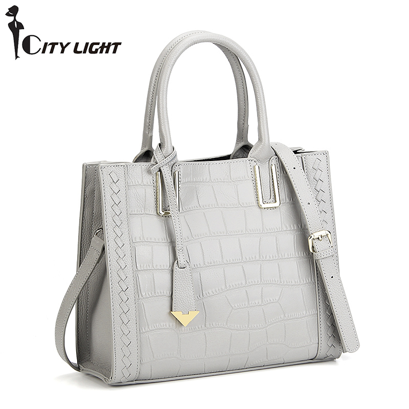 High quality Genuine leather bag ladies crocodile pattern Women messenger bags handbags women famous brand designer genuine leather bag ladies crocodile pattern women messenger bags fashion handbags women famous brand designer bolsa feminina