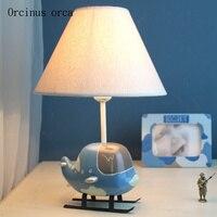 Мультфильм творческий самолета небольшая настольная лампа детской комнаты мальчика спальня ночники теплый и прекрасный светодиодный свет