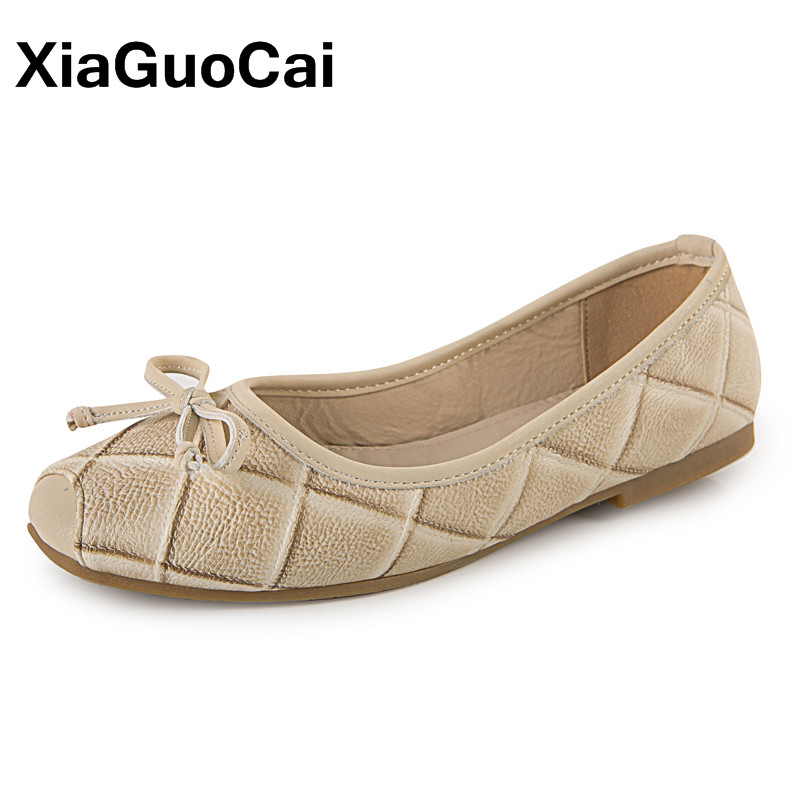 XiaGuoCai Summer Fashion Women Ballet Flats Breathable Slip-On Butterfly-knot Square Toe Lightweight Casual Women's Loafers X144 2017 summer new fashion sexy lace ladies flats shoes womens pointed toe shallow flats shoes black slip on casual loafers t033109