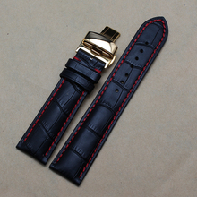 Gold Stainless steel Buckle Watchband For Luxury Brand Watches men 22mm Watch Band Strap Bracelet Red