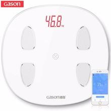 GASON báscula de grasa corporal S6, balanza científica inteligente, electrónica, LED, peso Digital, para baño, aplicación Bluetooth, Android o IOS
