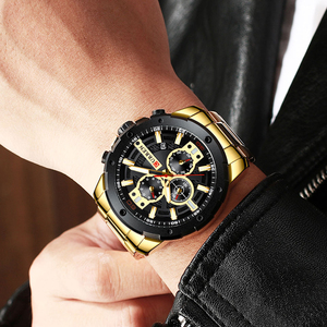 Image 4 - Sporty Watches Men Luxury Brand CURREN Fashion Quartz Watch with Stainless Steel Casual Business Wristwatch Male Clock Relojes