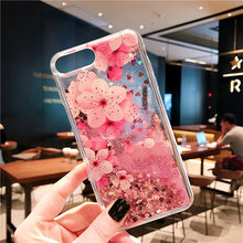 Liquid Quicksand Glitter Soft TPU Case For Iphone X XS XR MAX Flamingo Flower Cover 6 7 8 Plus Capa
