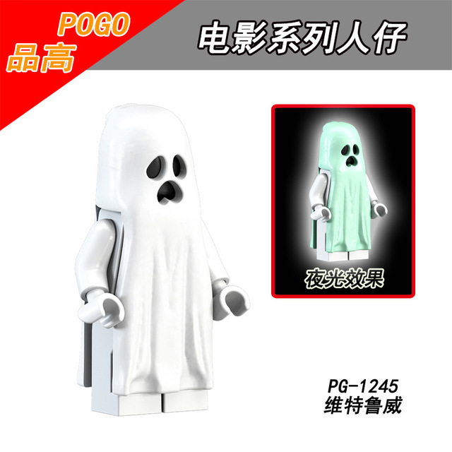 For legoing Single Sale TThe Horror Theme Movie Heroes ghost Halloween monster Warrior Jason Building Blocks Children Gift Toys