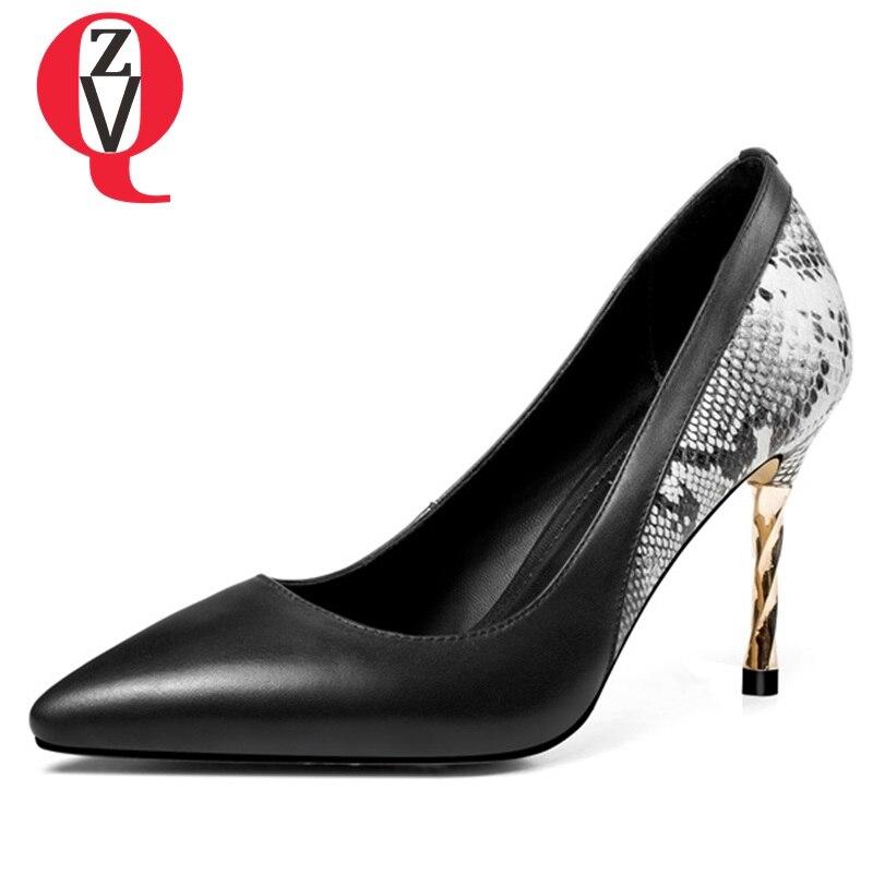 Haute Le Dame on Pour Mince Slip De Et Profonds Mode Bureau Noir Nouvelle Chaussures Spéciale Talons Pointu Beige Beige Supérieure black Printemps Super Qualité Peu Bout Zvq Offre SUqBwx8