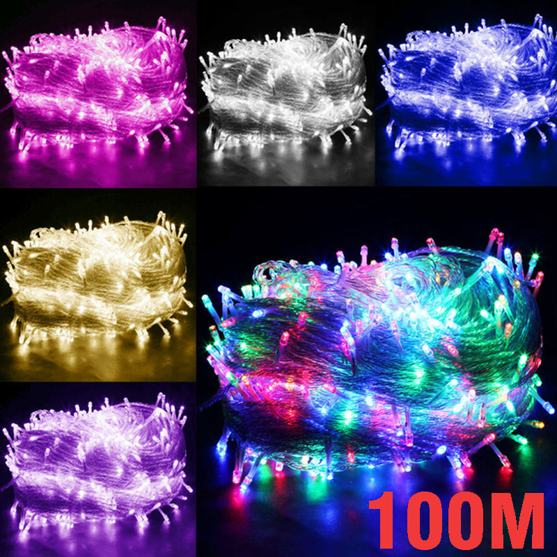 Outdoor Lighting 30M 300led 50M 500LED 100M 1000 LED Fairy String Lights 8 Modes For Wedding Christmas Party Holiday Decoration