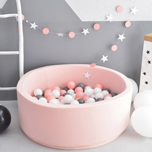 Dry Pool For Children Infant Ball Pits Round Foldable Ball Pool Ocean Ball Playpen Toy Soft Colorful INS Baby Fence Room Decor