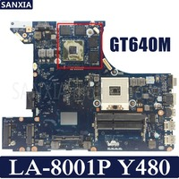 KEFU QIWY3 LA 8001P Laptop motherboard for Lenovo Y480 Test original mainboard GT640M