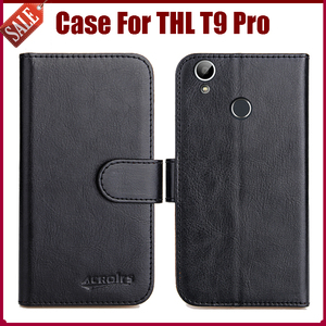 THL T9 Pro case,Six Colors Luxury Flip Leather Phone Case For THL T9 Pro Cover with Card Holder fresh style