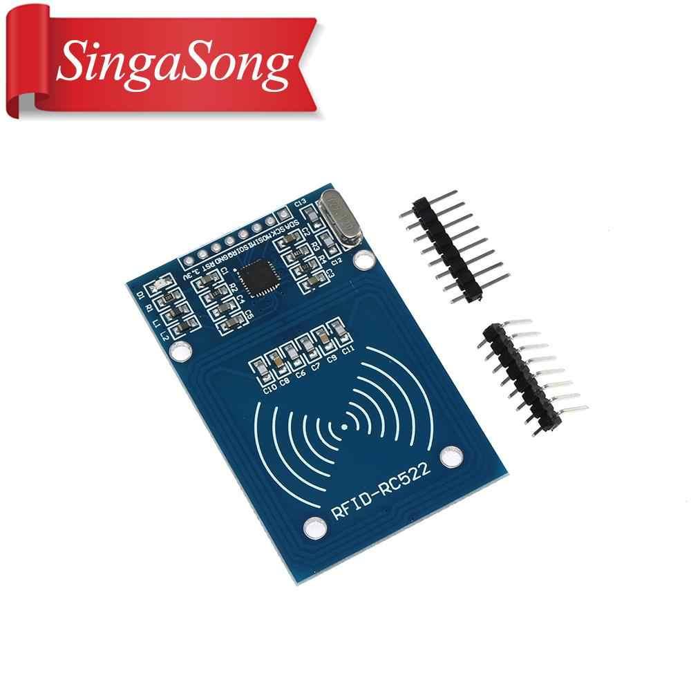 1 conjunto MFRC-522 RC-522 rc522 13.56 mhz módulo rfid para arduino kit leitor de escritor spi cartão ic com o cartão ic com software uno