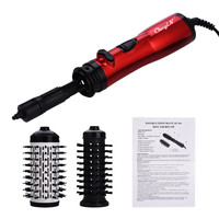 Electric Hair Dryer Brush Ceramic Blow Dryer Hair Curling Iron Hair Curler Roller Comb Rotating Hairdryer Hairstyling Tools