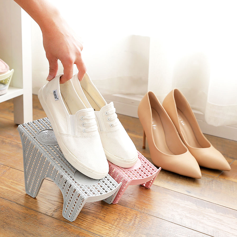 Double Layer Shoes Rack In Plastic 11