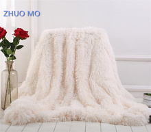 ZHUO MO 2019 New Arrival Elegant Throw Blanket For Bed Sofa Large Size 160*200cm Long Shaggy for home Soft Warm Bedding Sheet