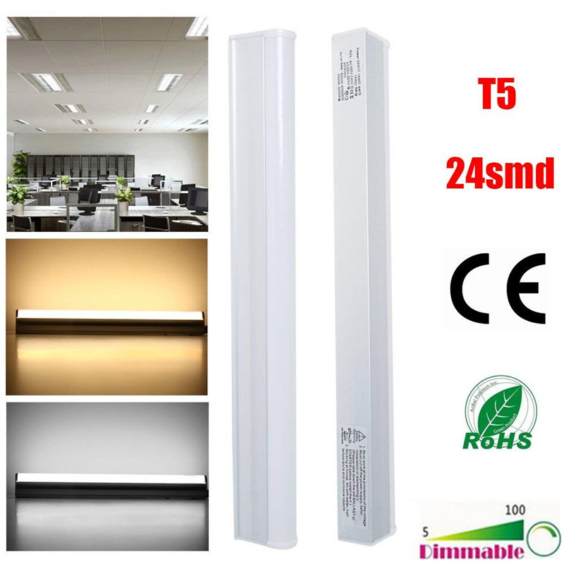 30pcs 30cm 5W(12W Equivalent) 440LM SMD2835 T5 LED Intergrated Tube With Switch AC85-265V - Dimmable LED Light Bulbs