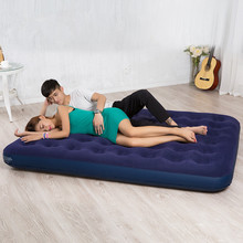 Inflatable bed Fashion is convenient inflatable cushion household outdoor portable double bed,Width=37cm  length=191cm