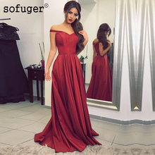 Burgundy Satin Special Occasion Dress Bridesmaid Dresses A line Sweetheart Zipper Wedding Party Sleeveless Formal