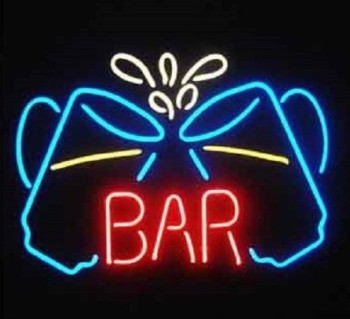 Beer Bar Glass Neon Light Sign Beer Bar