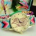 Excelente Qualidade Dreamcatcher Pulseira Relógios Das Mulheres Trança Vestido Das Mulheres Relógios De Quartzo Relógios Relógio Relogio feminino Para O Presente