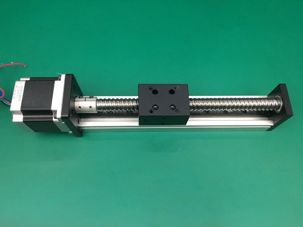 free shipping CNC SGX 1204 Ballscrew Sliding Table effective stroke 300mm+1pc nema 23 stepper motor XYZ axis Linear motion free shipping cnc 800mm stroke cnc linear guide kit for three axis machine