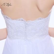 Empire Wedding Dresses Sweetheart Neckline Sleeveless Chiffon Bridal Gown for Pregnant Woman Vestido de Casamento