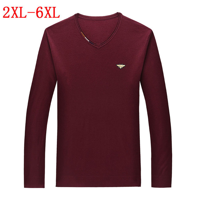 Free shipping 2016 new fashion high-end men's casual round neck sweater jacket POLO men's shirt large size 4XL5XL6XL