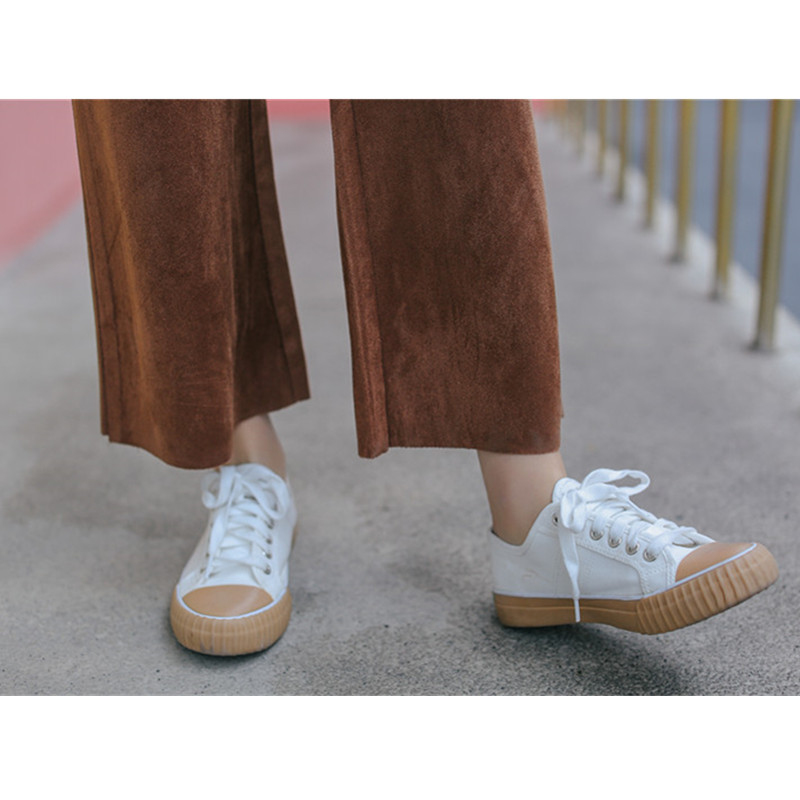 Thick Suede Autumn Winter Pants Women 2019 Japanese Style Vintage Single Breasted High Waist Trousers Wide Leg Pants Palazzo