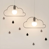 Simple Restaurant Iron Cloud Chandelier Nordic Hall Bar Dining Room Modern Pedant Lamp Children Room Cafe Shop Hanging Light