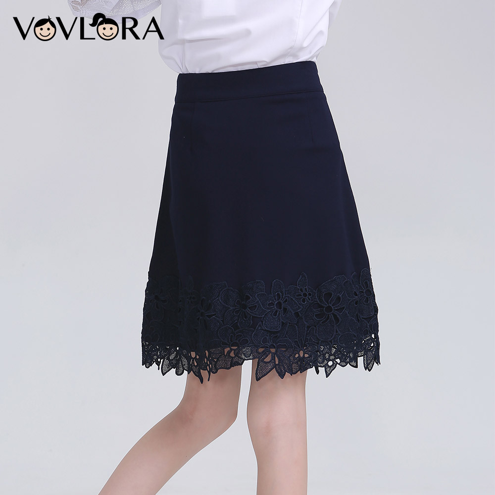 New   Lace School Girls Skirts Blue Kids Skirt 2018 Autumn Casual Children  School Uniform New Arrival Size 9 10 11 12 13 14 Years-in Skirts from Mother    ... 726ff0522a41