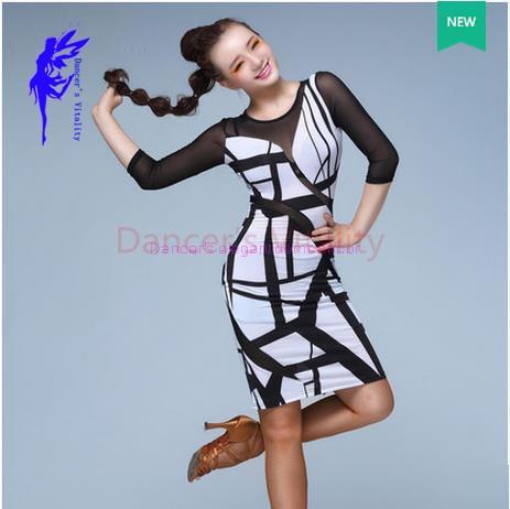 dfd0ac37e New latin dance costume sexy senior gauze long sleeves atin dance dress for women  latin dance compeitition dresses S-XXL