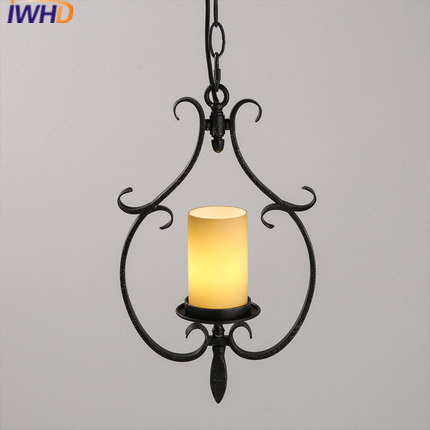 IWHD American Style Loft Industrial Vintage Pendant Light Led Iron Retro Hanging Lamp Candle Glass Hanglamp Kitchen Lights iwhd style loft industrial hanging lamp iron vintage lamp pendant lights retro black hanglamp light fixtures luminaire lampen
