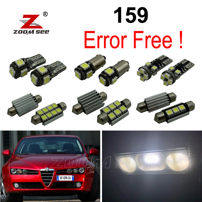 14pc x 100% Perfect Canbus Car <font><b>LED</b></font> interior dome lights map trunk bulbs for Alfa Romeo 159 (2005-2011) image