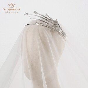 Image 2 - Hohe ende Shinny Unregelmäßigen Zirkon Kristall Bräute Tiara Kronen Splitter Braut Haar bands Kopfschmuck Hochzeit Haar Zubehör