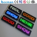 Leeman led programmable display screen signs, led scrolling message name badge, led price tag