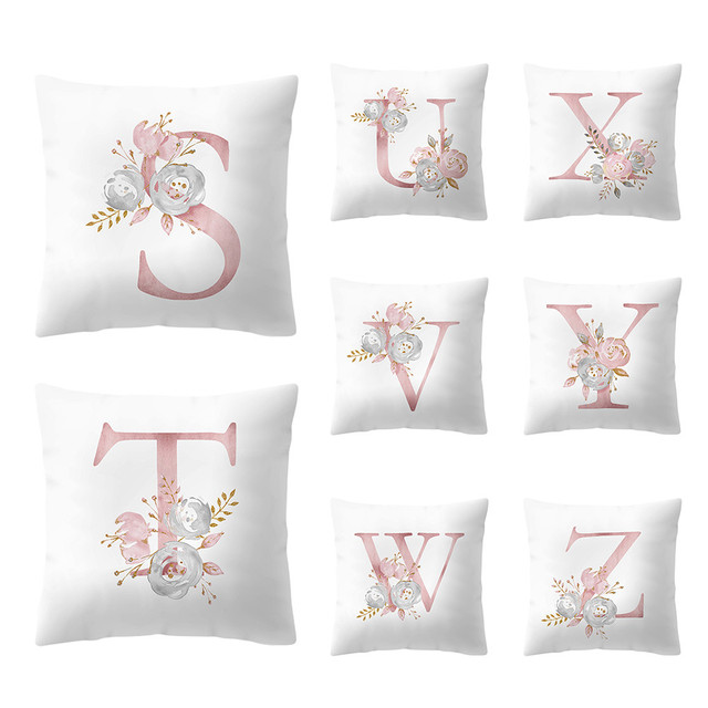 45x45 cm Kinder Zimmer Dekoration Breve Kissen Englisch Alfabeto federe di Coton