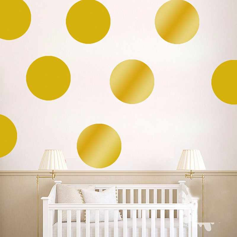 New Polka Dots Wall Stickers For Kids Room Gold Polka Dots Decals Circle Tiny Polka Sticker Home Decor Wall Art Mural Kids Gifts