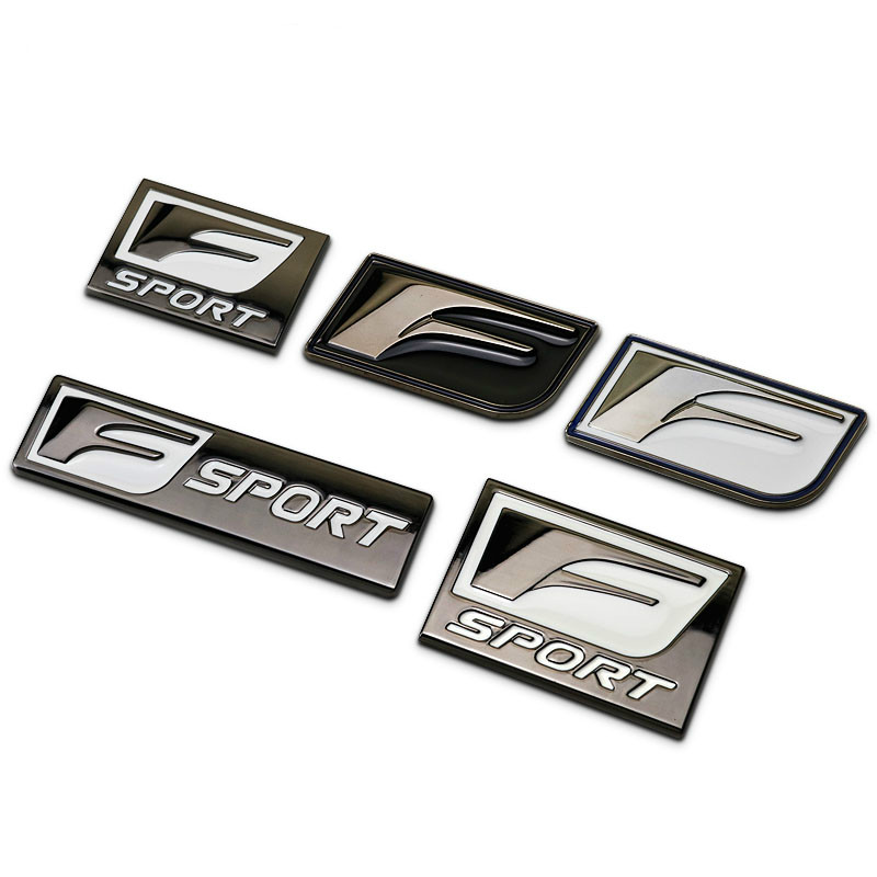 Square Gun F Sport F-sport Car Styling Refitting Metal Emblem Badge Fender Trunk 3D Sticker for Toyota Lexus IS250 CT200 ES RX