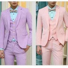 Multicolor optional custom men's suit bright pure color bright eye of fashion of men's suits groom suit (jacket + pants + vest)