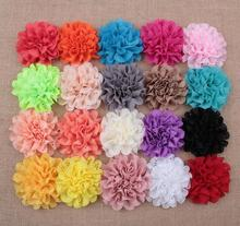 120pcs/lot 8cm 20Colors Fashion Hollow Out Blossom Eyelet Hair Flowers Soft Chic Artificial Fabric For Baby Headbands
