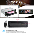 """3 """"HD Автомобильный DVD Плеер С Сенсорным Экраном Радио Стерео Съемная Панель Bluetooth Сабвуфер AUX Камера В CD MP4 Аудио"""