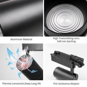 Image 5 - מסלול מנורת Zoomable 12W/20W/30W מתכווננת קרן זווית COB LED רכבת בגדי נעלי חנות תערוכת גלריה זרקורים ספוט אור