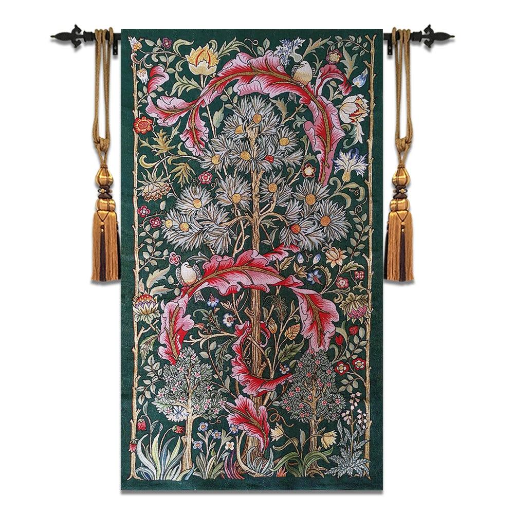 84x140 cm William Morris Works arbre de vie belgique tapisserie mur tapis marocain décor tapisserie Gobelin tenture murale