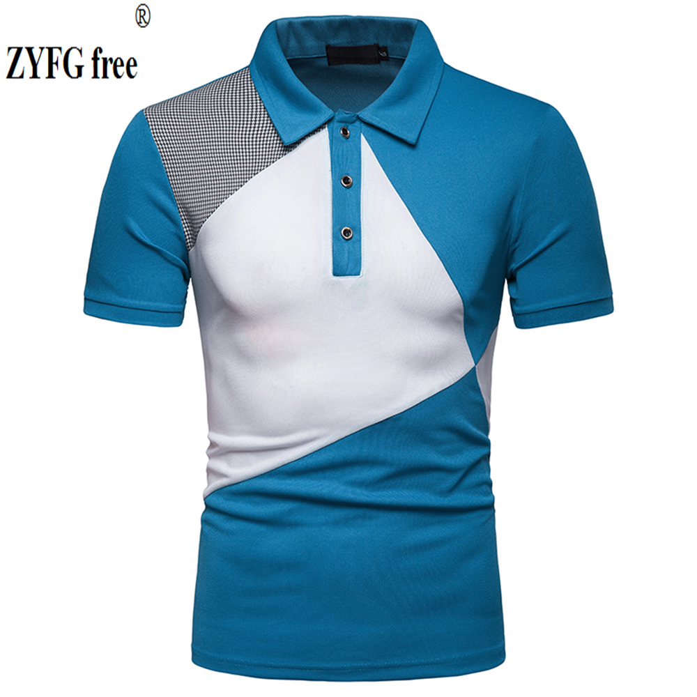 Large size men   polo   shirt Casual short-sleeved turn-down collar   polo   shirt youth vitality male tops