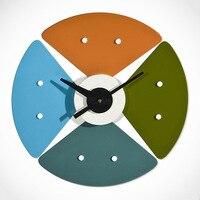 Северный Европейский дизайнер Нельсон часы сплошная деревянная стена часы